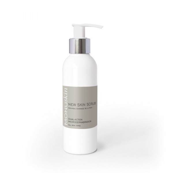New Skin Scrub 180ml Pump Bottle Retail